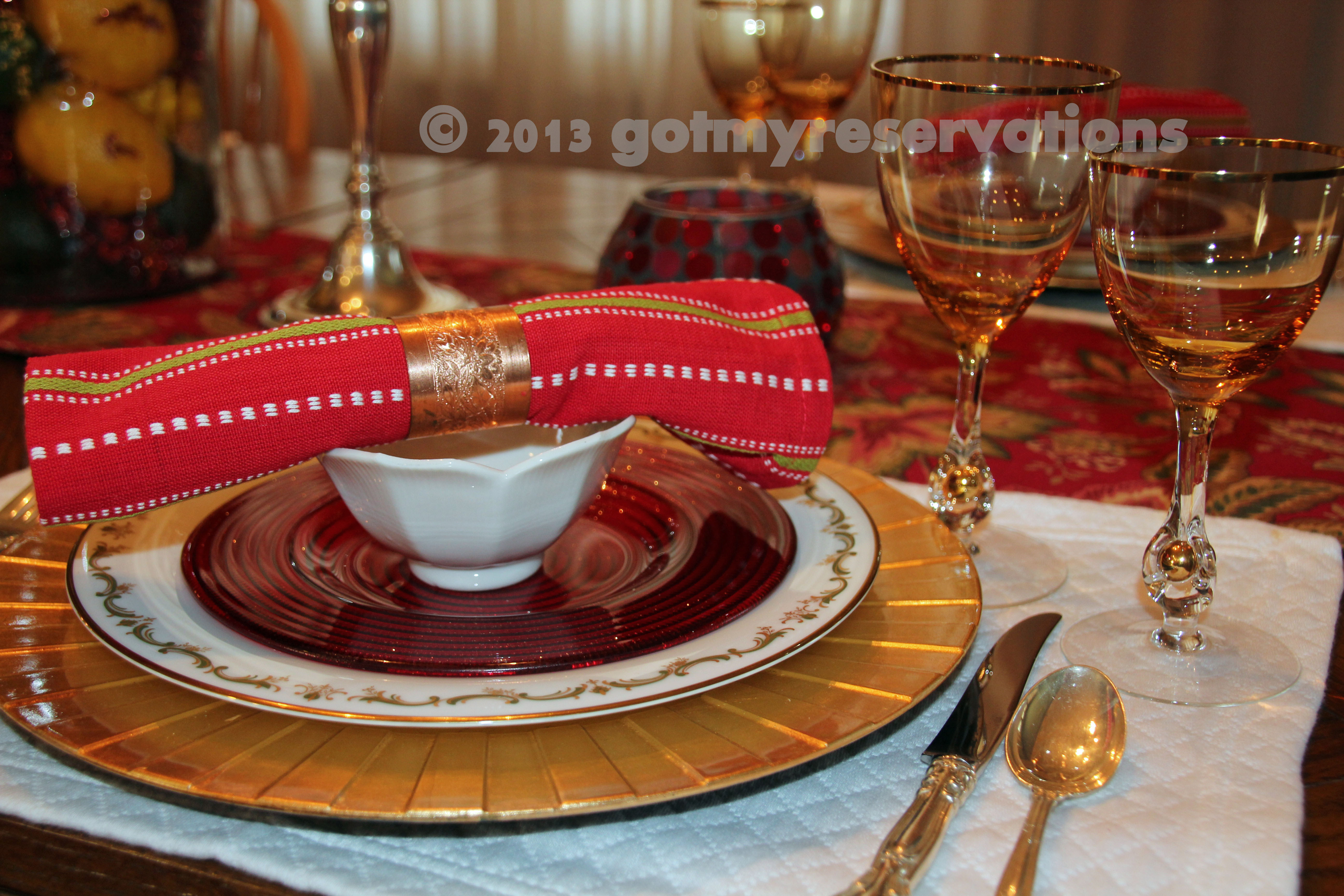 Italian Table Setting Tablescape Thursday A Nice Italian Red Got My Reservations
