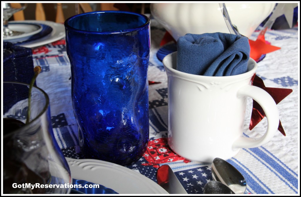 GotMyReservations - 4th of July Glass and Napkin