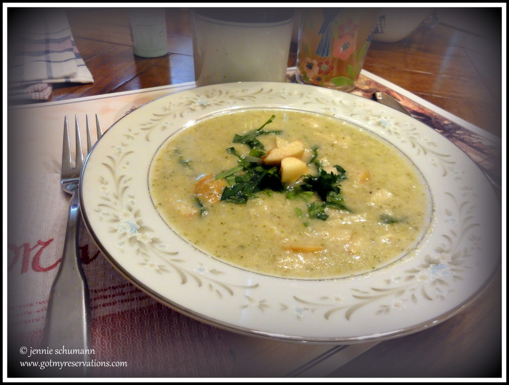 GotMyReservations -- Broccoli-Cauliflower Swiss Cheese Soup