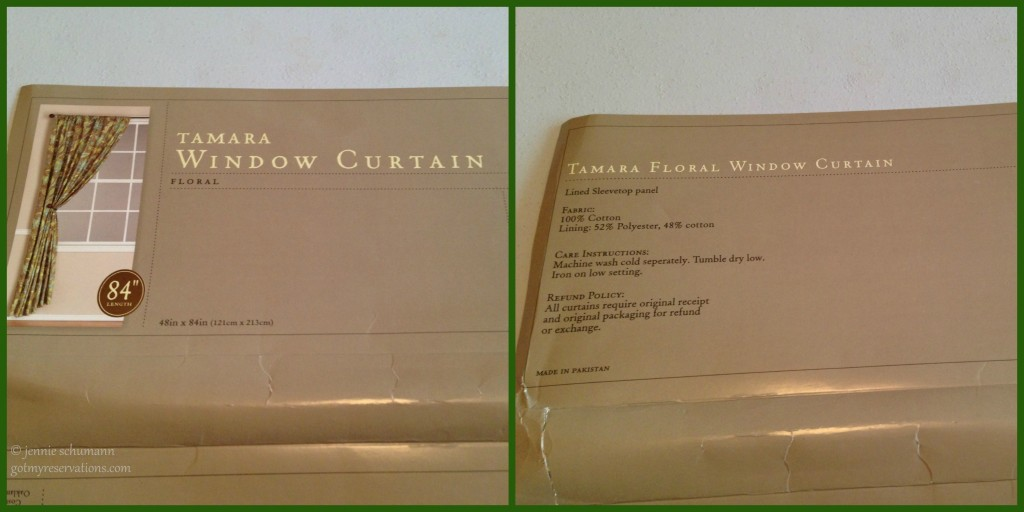 Got My Reservations Tamara Window Curtain