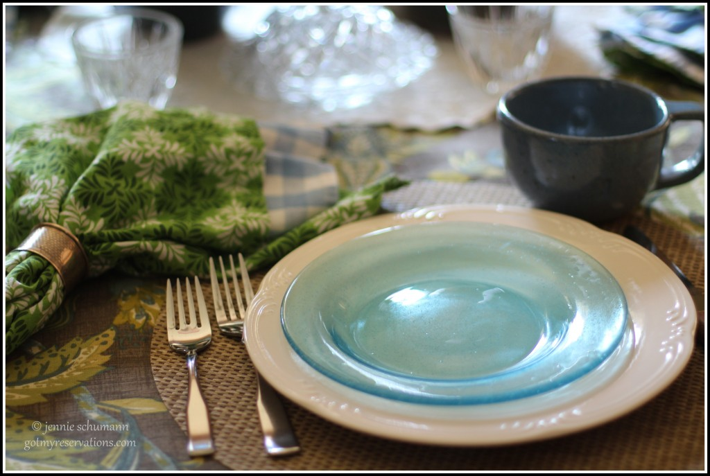 GotMyReservations -- Outside Inside Tablescape Place Setting B
