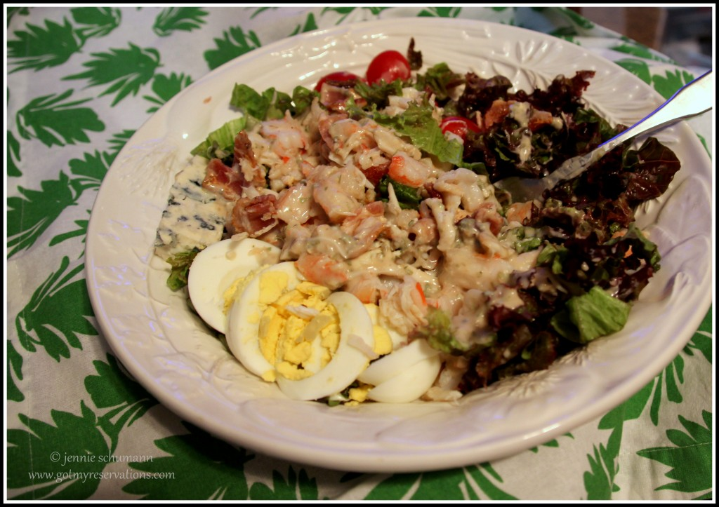 GotMyReservations -- Seafood Cobb Salad Food Styling