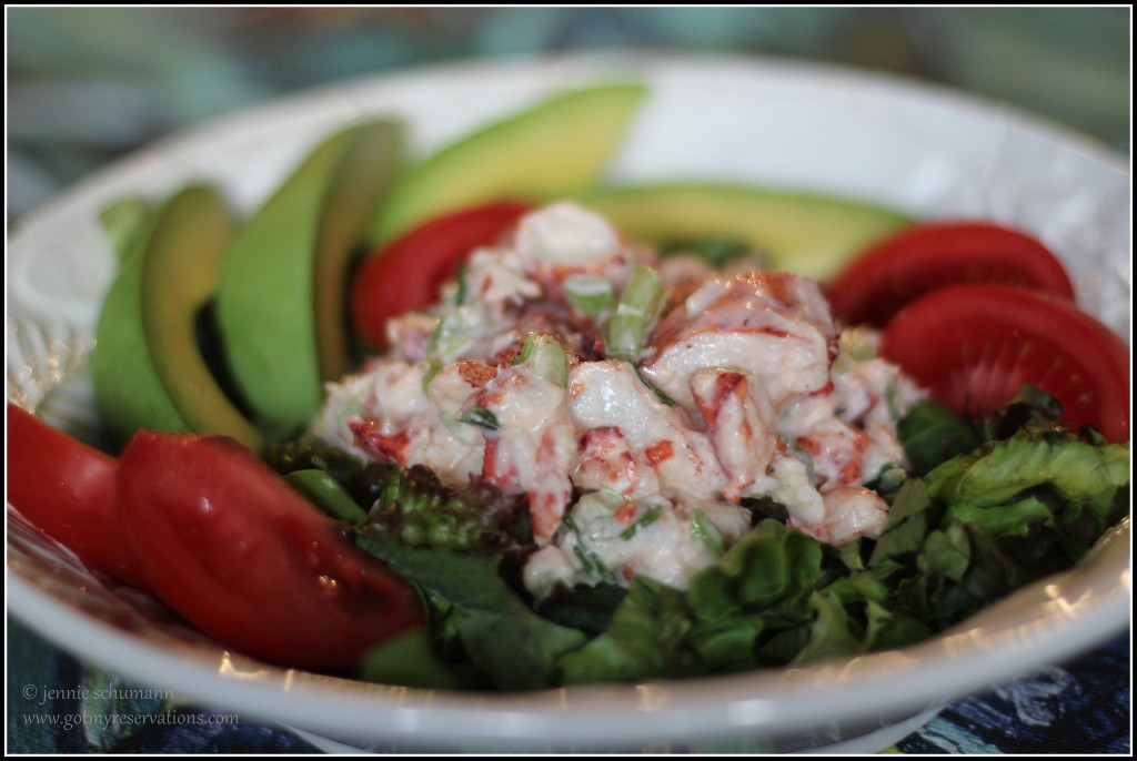 GotMyReservations--Seafood Cobb Salad Food Styling in White Bowl