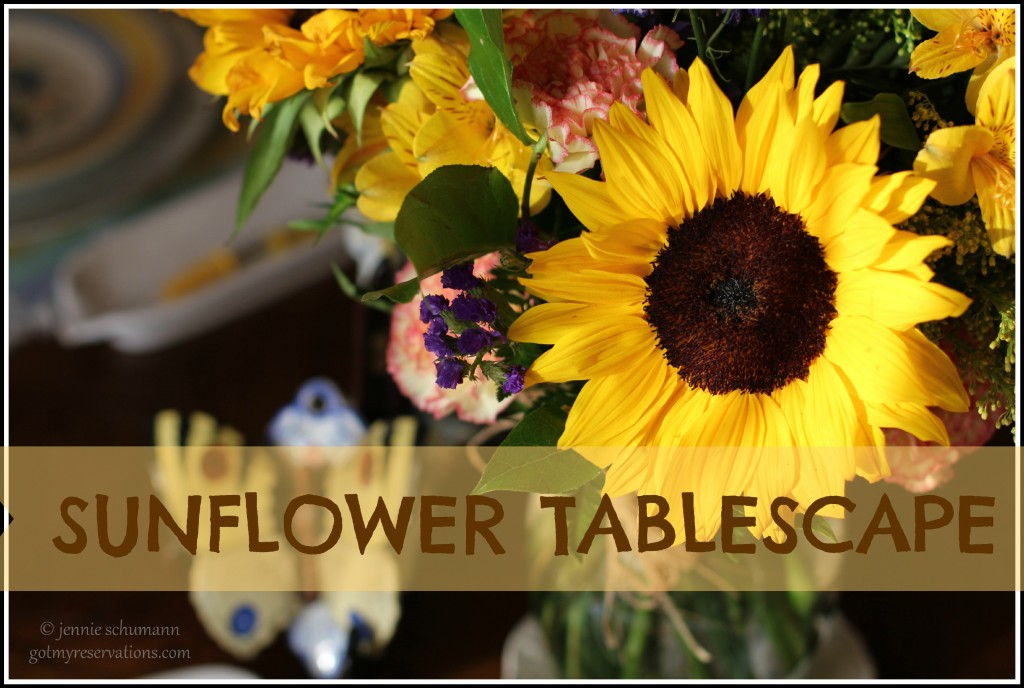 GotMyReservations -- Sunflower Tablescape Intro