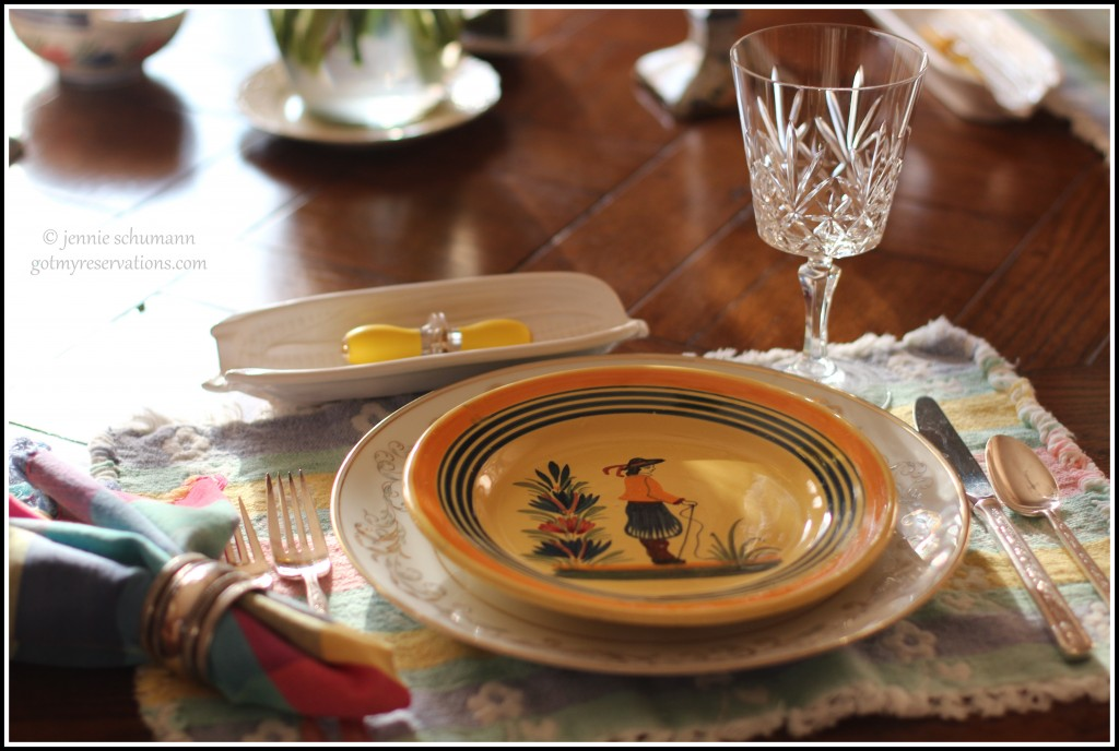GotMyReservations -- Sunflower Tablescape Place Setting 2
