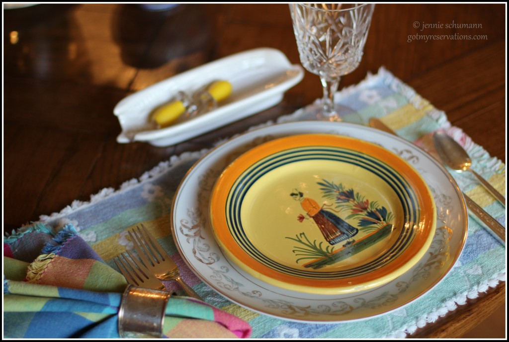 GotMyReservations -- Sunflower Tablescape Place Setting B