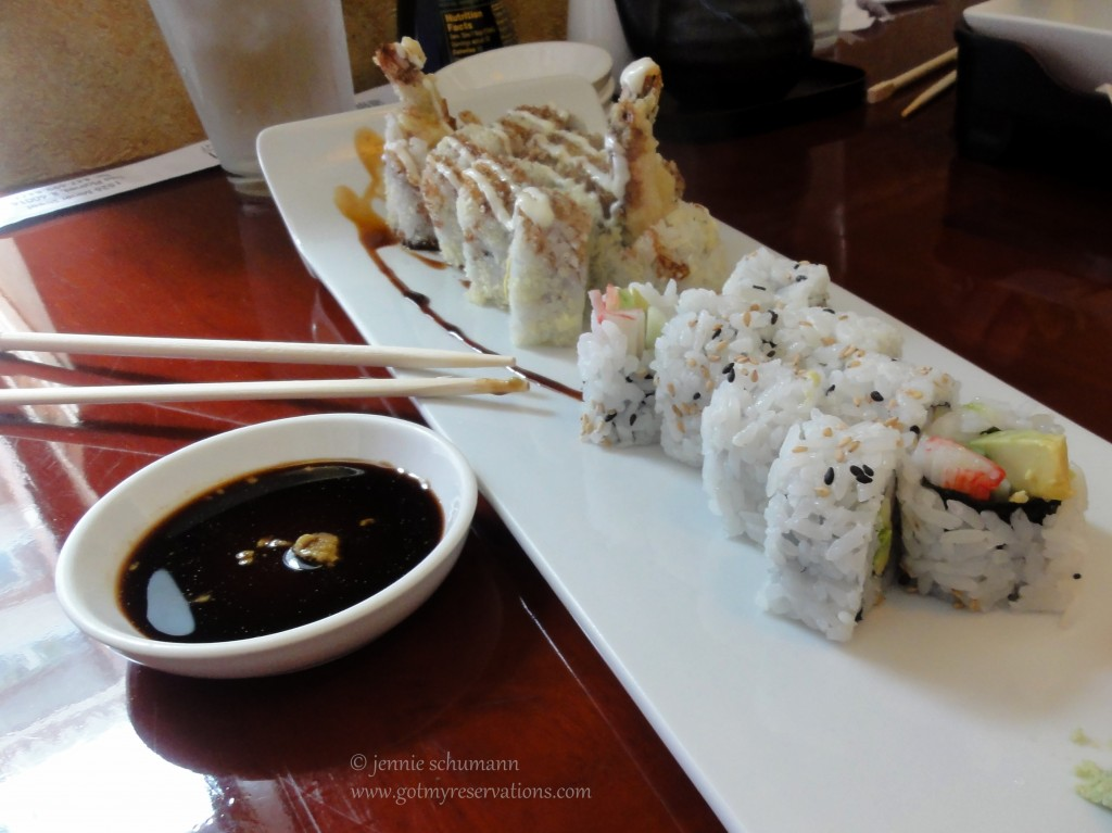GotMyReservations - Dotombori Shrimp Crunch and California Rolls
