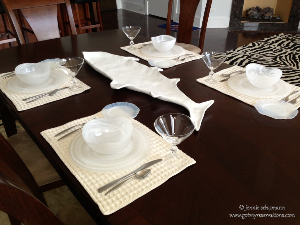 GotMyReservations -- Fish Tale Tablescape Intro