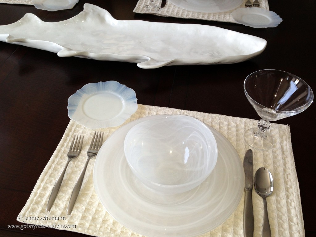 GotMyReservations -- Fish Tale Tablescape Place Setting