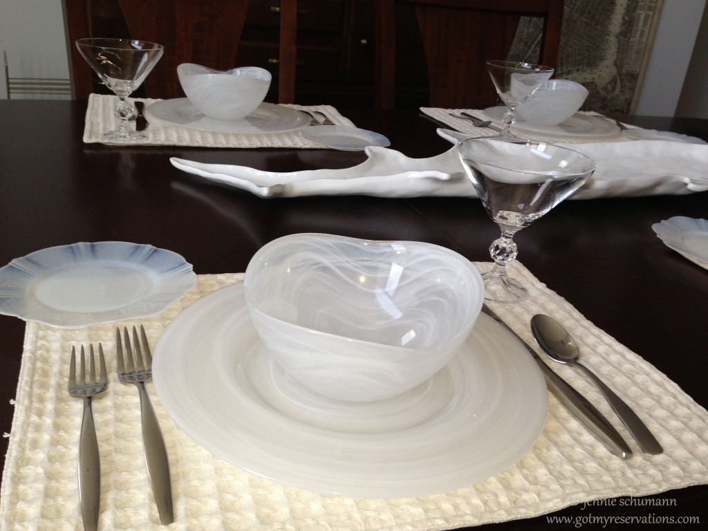 GotMyReservations -- Fish Tale Tablescape Place Setting 3
