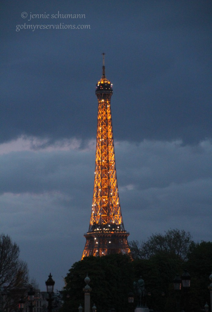 GotMyReservations -- Eiffel Tower at Night