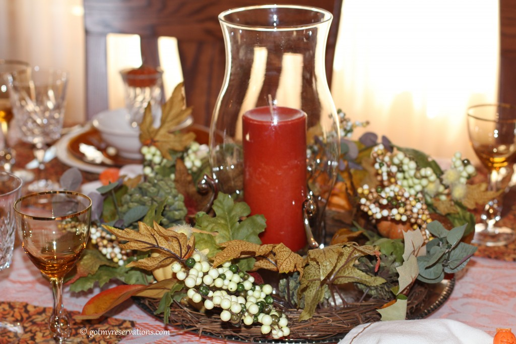 GotMyReservations - Pumpkin Delight Tablescape Centerpiece 2