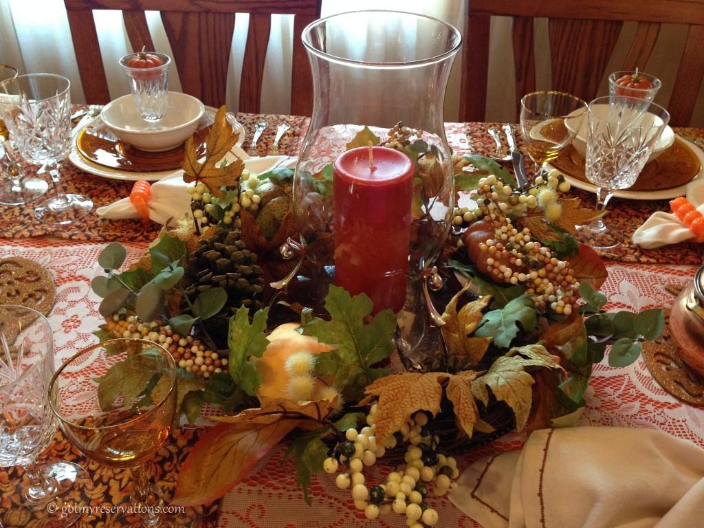 GotMyReservations - Pumpkin Delight Tablescape Centerpiece 3