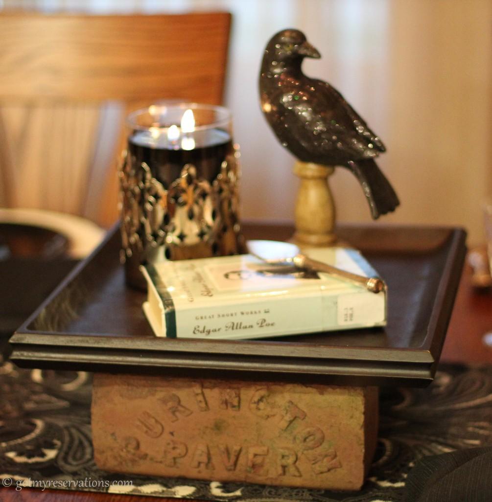 GotMyReservations - Quoth the Raven Centerpiece Brick
