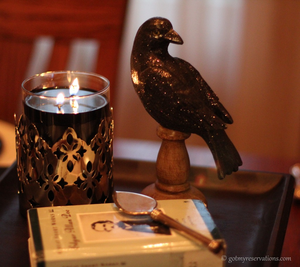 GotMyReservations - Quoth the Raven Centerpiece Detail
