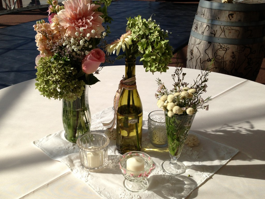 GotMyReservations -- Winery Wedding Centerpiece