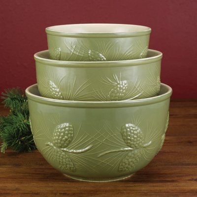Pine Cone Mixing Bowl Set