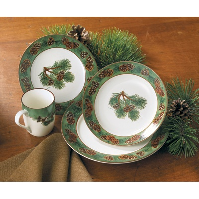 Pine Cone Dinnerware Set