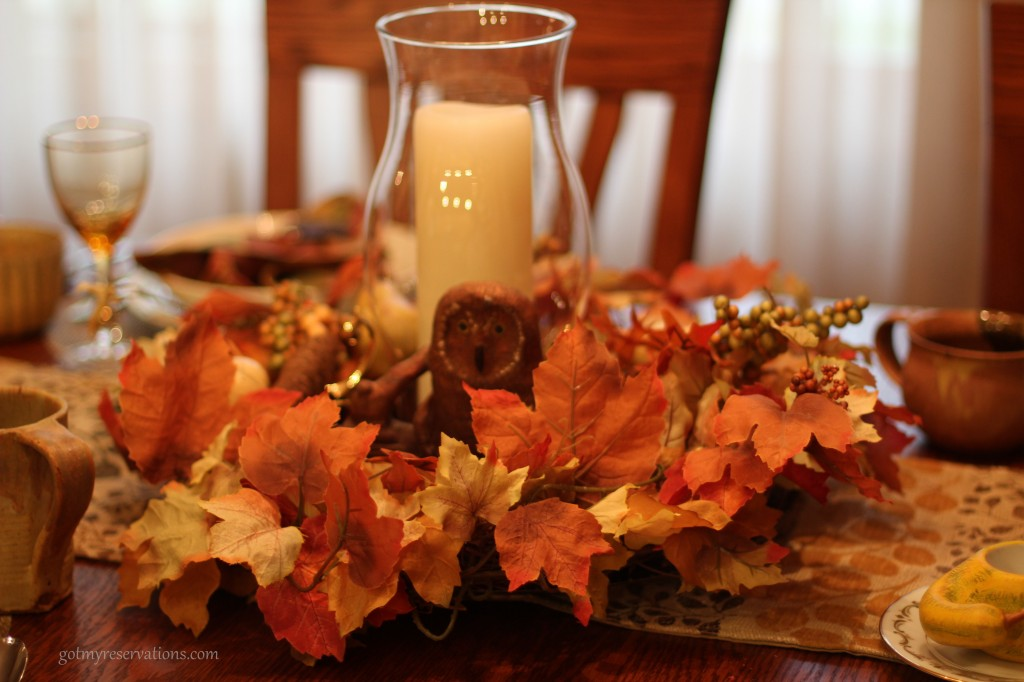 GotMyReservation Falling Leaves Centerpiece