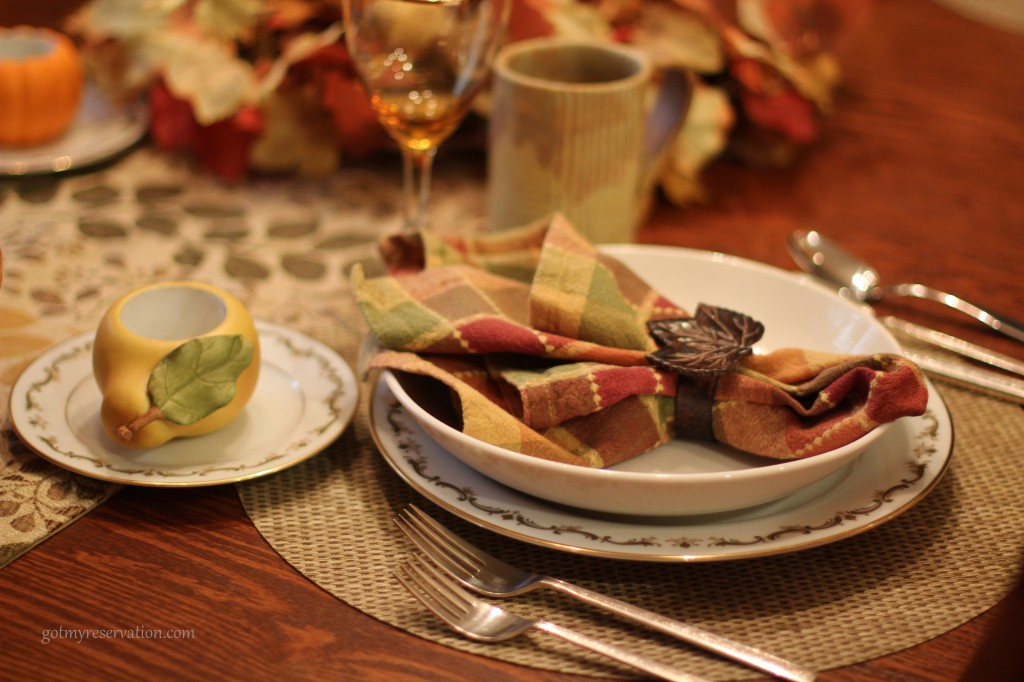 GotMyReservation Falling Leaves Place Setting