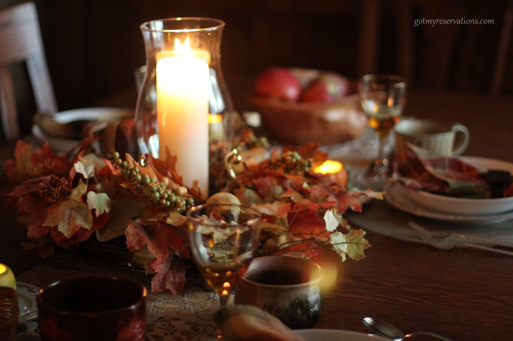 GotMyReservation Falling Leaves Tablescape 3