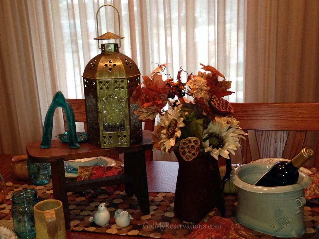 GotMyReservations - Penny Rugs and Ball Jars Centerpiece 2