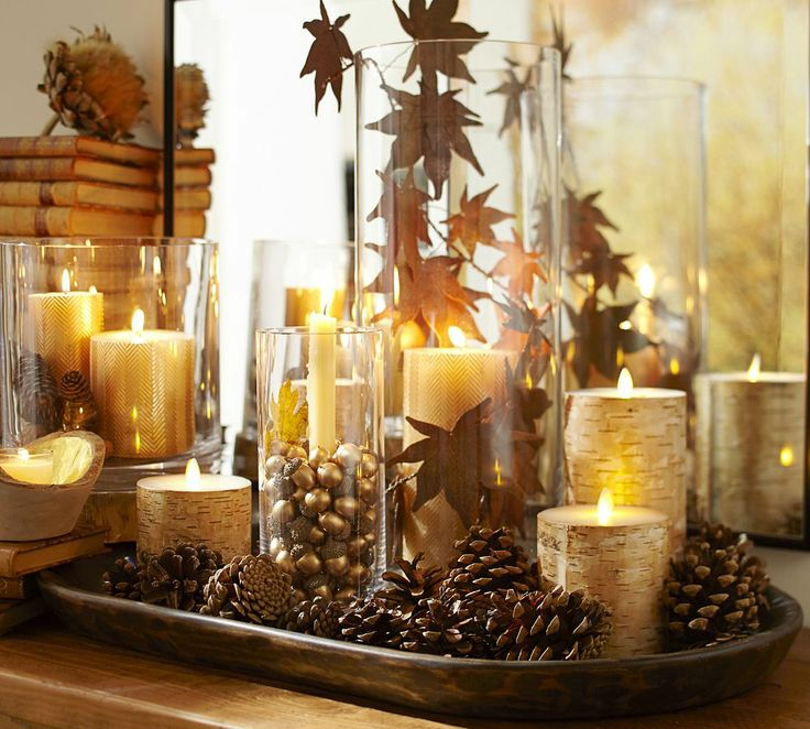 Pottery Barn Autumn Centerpiece