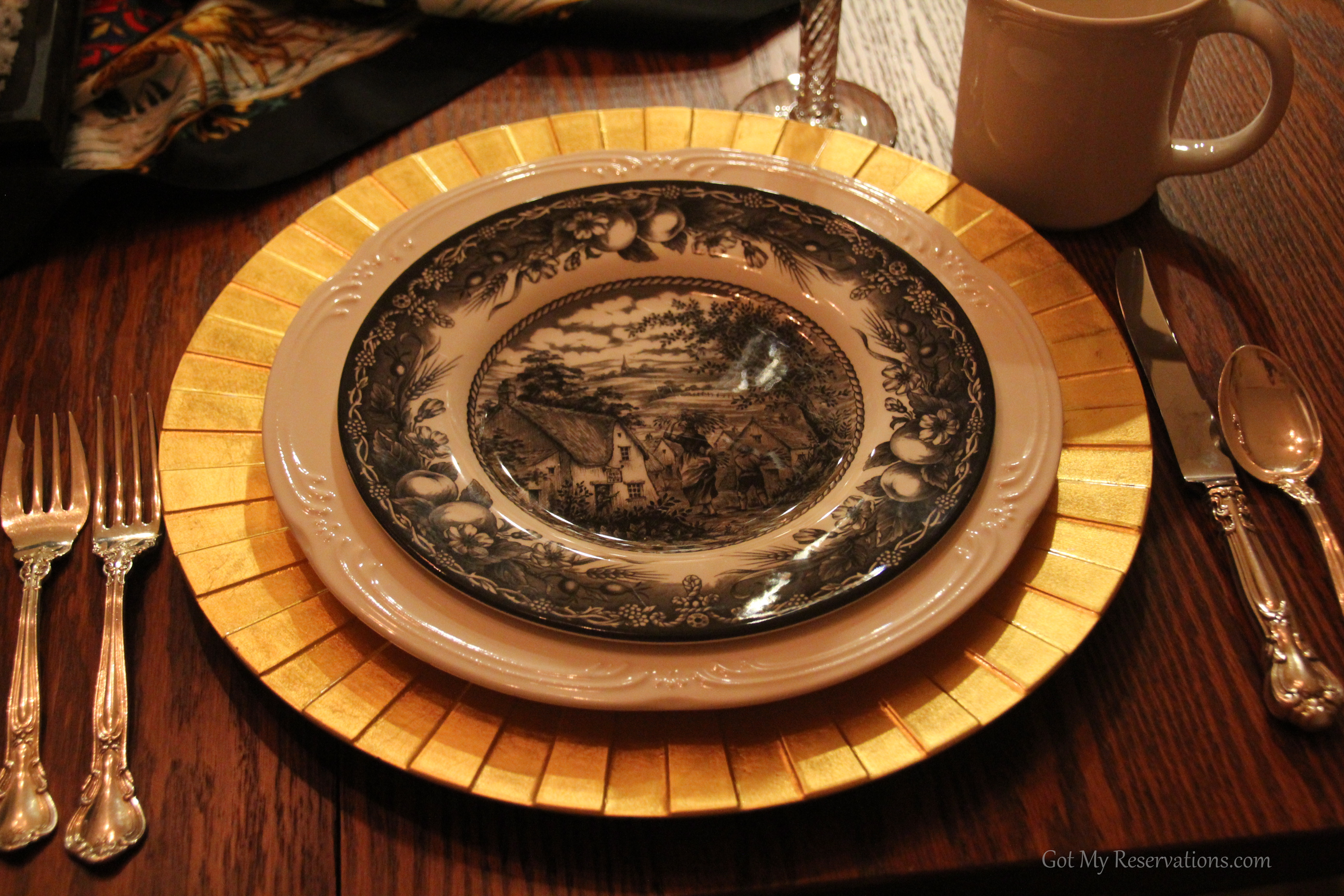 GotMyReservations-Over the River and Through the Wood Plate Stack