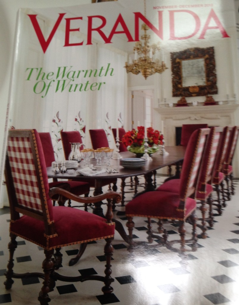 Veranda magazine cover November-December 2013