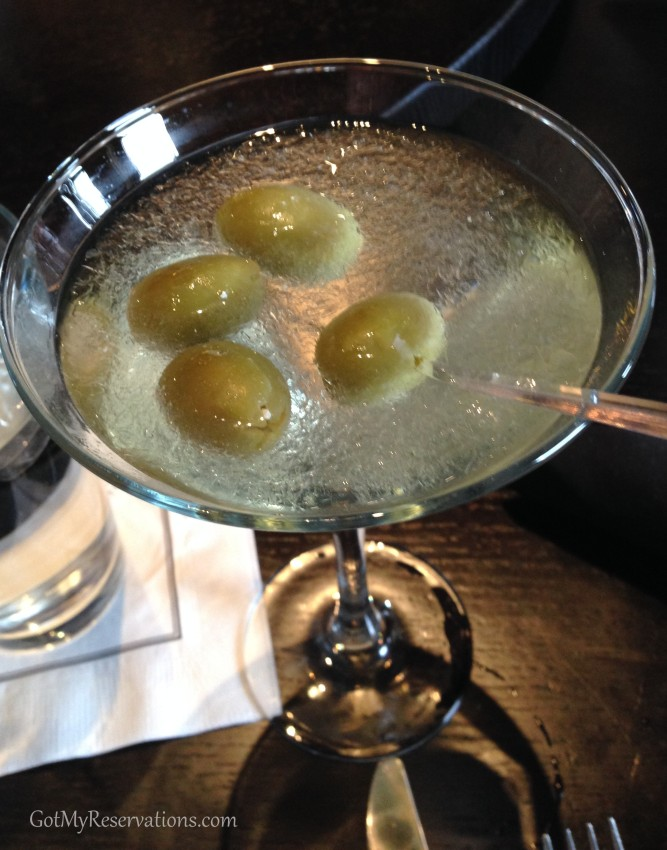 GotMyReservations Coopers Hawk Dirty Martini