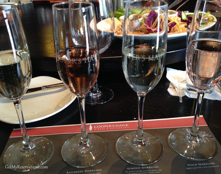 GotMyReservations Coopers Hawk Sparkling Wine Flight