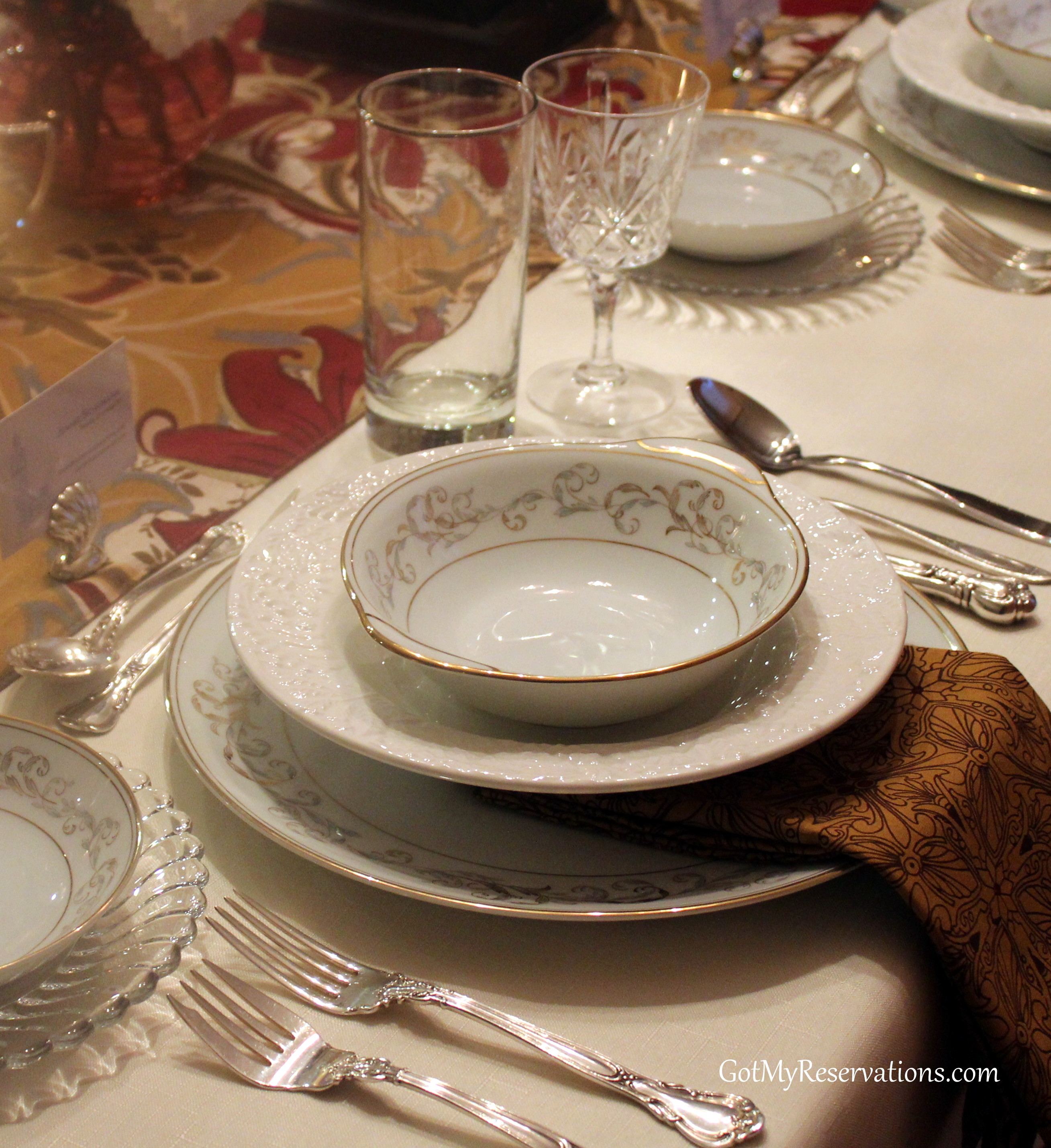 Russian table setting - Russian Table Setting Style Downton Abbey Tablescape For The