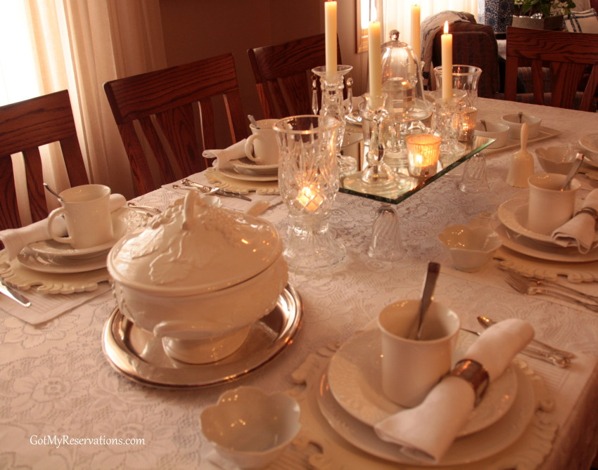 GotMyReservations Ice and Snow Tablescape 1