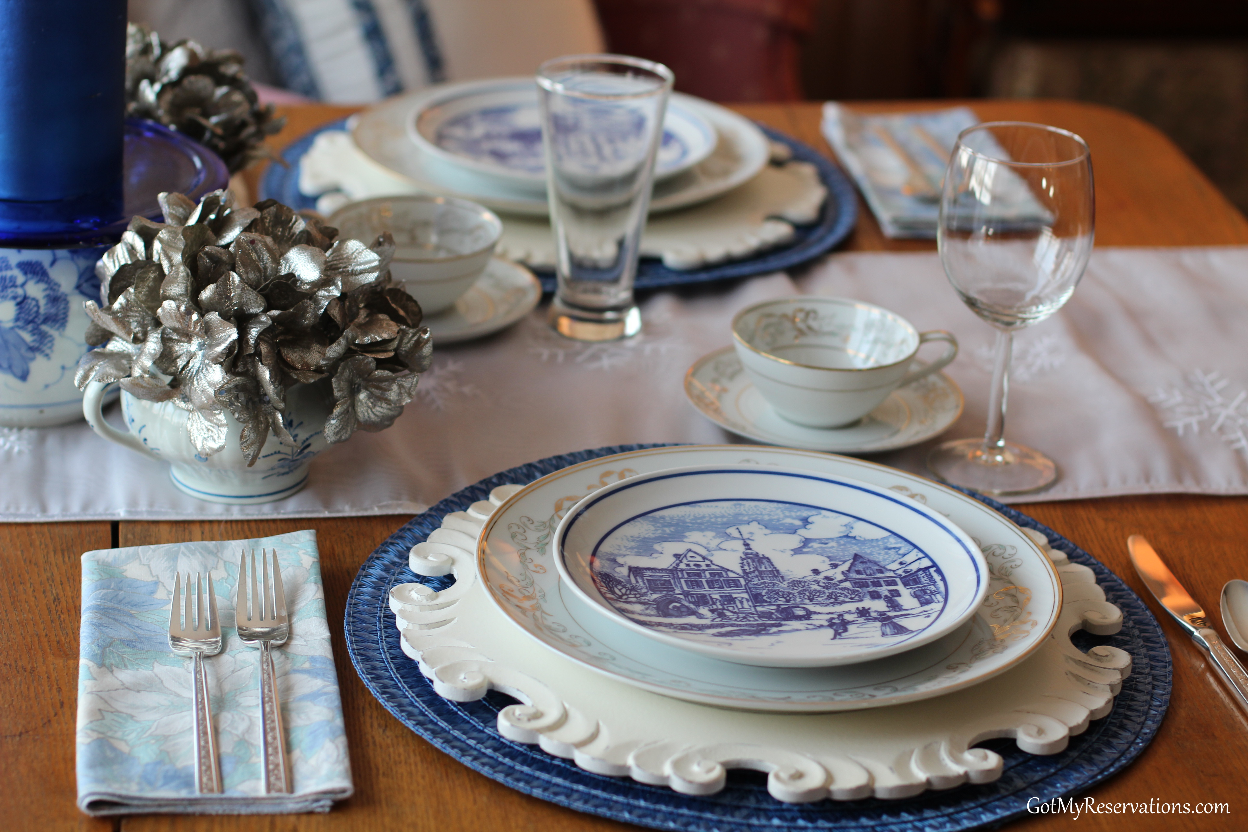 GotMyReservations Winters Blue Tablescape 8