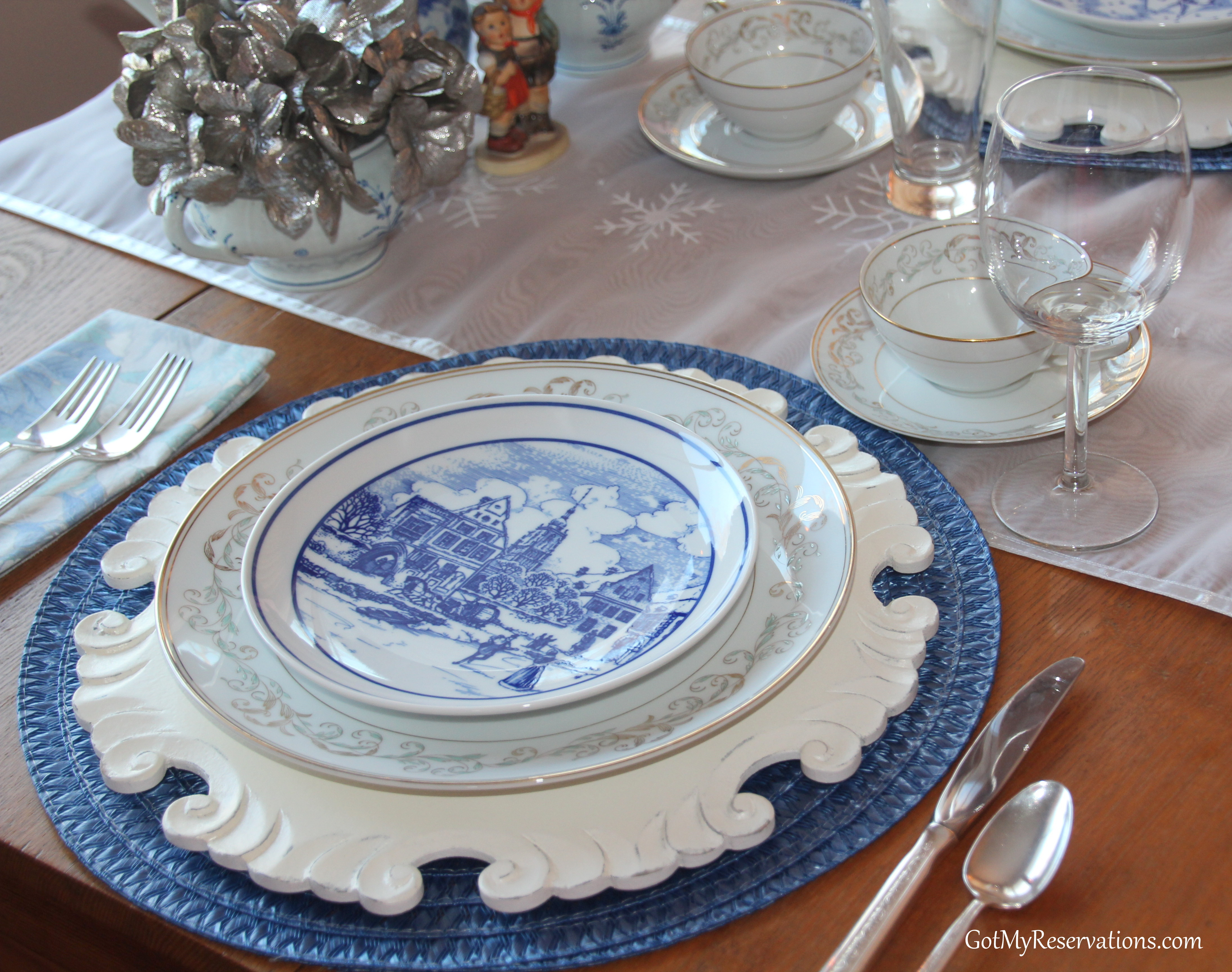 GotMyReservations Winters Blue Tablescape