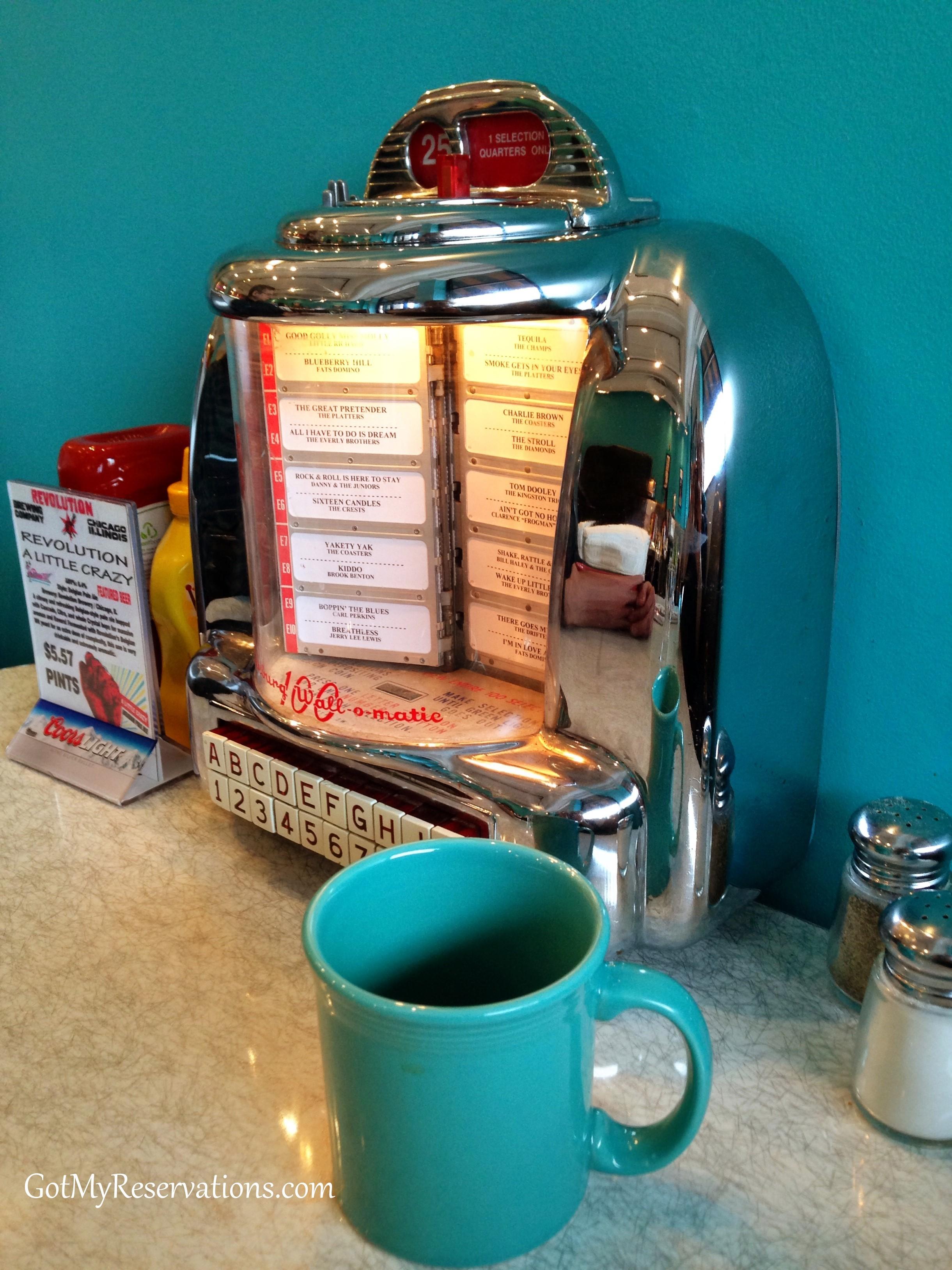 GotMyReservations Circa 57 Diner Jukebox