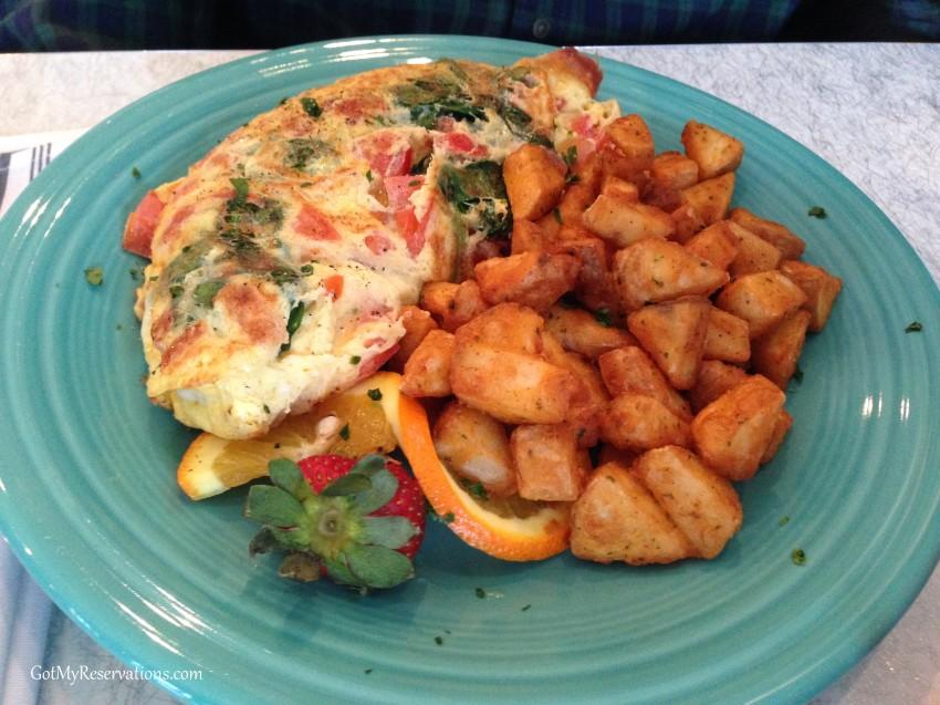 GotMyReservations Circa 57 Diner Veggie Omelette