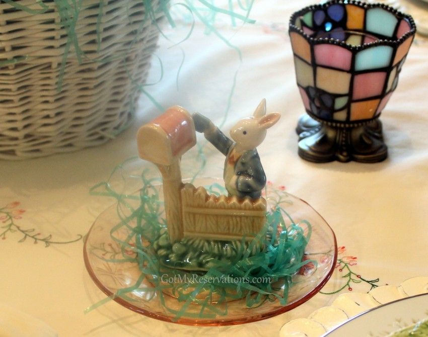 GotMyReservations Easter Tablescape Beatrix Potter Bunny