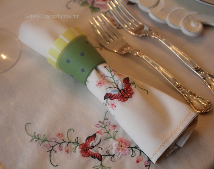 GotMyReservations Easter Tablescape Linens Detail