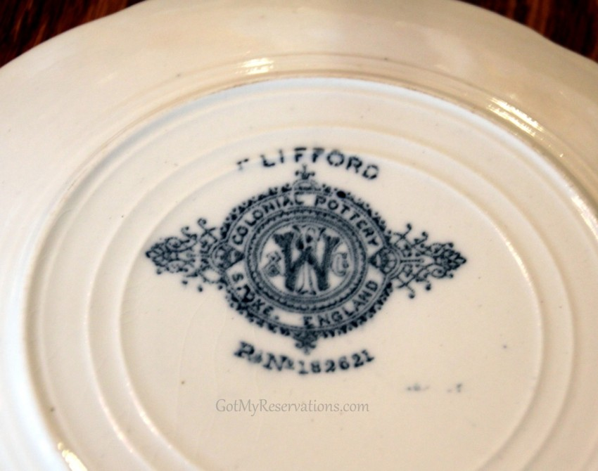 GotMyReservations Springtime in Vienna  Colonial Pottery Plate Markings