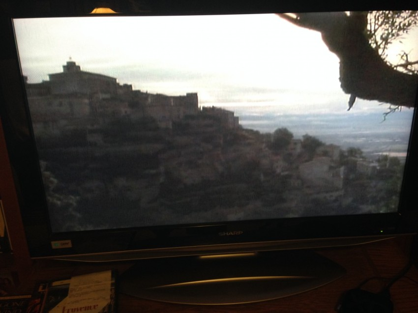 The village of Gordes in the movie