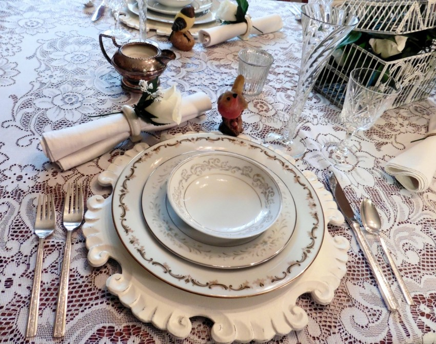 Got My Reservations Wedding China Place Setting