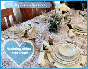 WEDDING CHINA TABLESCAPE