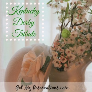 KENTUCKY DERBY TRIBUTE TABLESCAPE