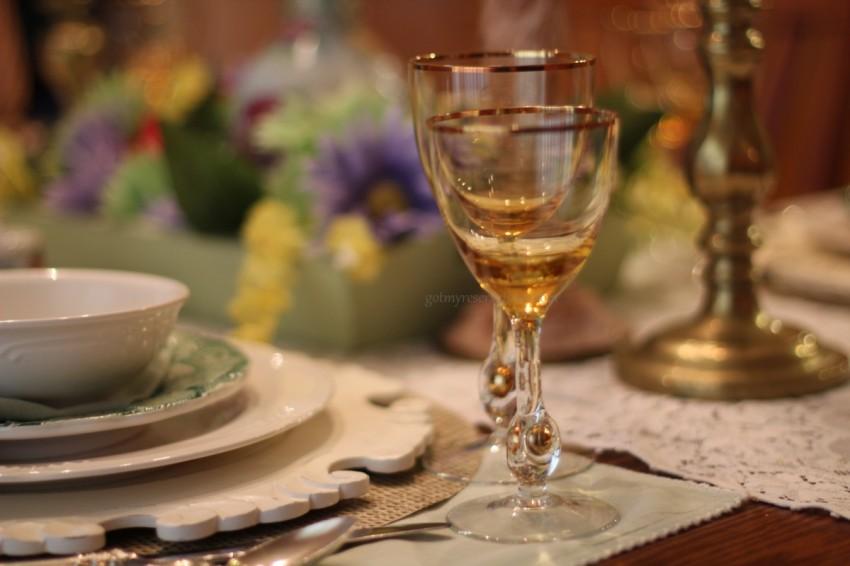 GotMyReservations Floral Fantasy Murano Goblets