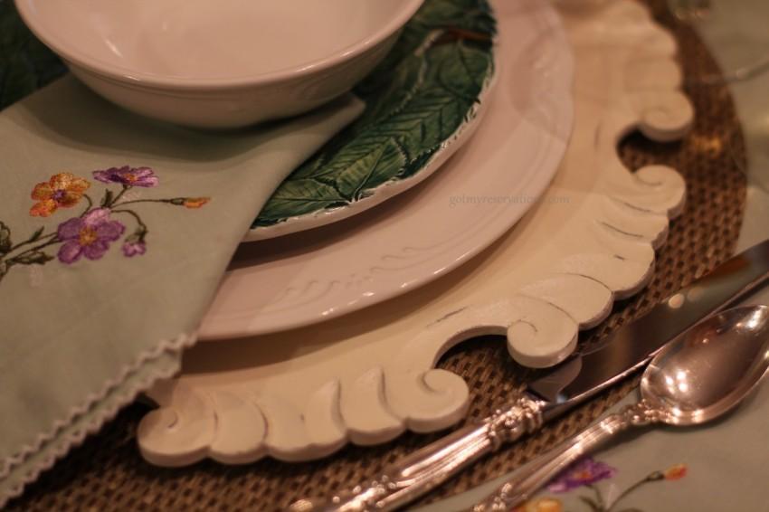 GotMyReservations Floral Fantasy Plate Stack