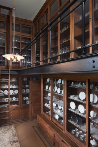 The original photo of the two-story butler's pantry at Biltmore is courtesy of The Biltmore Estate.