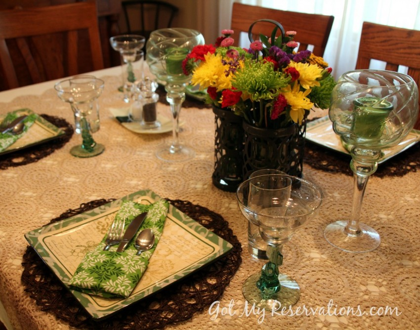 GotMyReservations Summer Green Tablescape 2