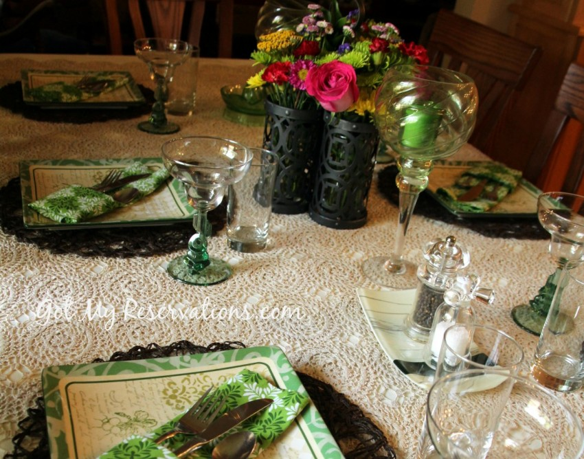 GotMyReservations Summer Green Tablescape