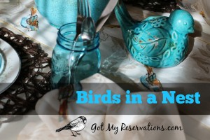 BIRDS IN A NEST TABLESCAPE